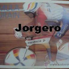 Coleccionismo deportivo: FÓRMULA INDURAIN. RECORD DE LA HORA 1994. PÓSTER. Lote 24963108