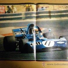 Coleccionismo deportivo: POSTER FORMULA 1, JACKIE STEWART, CON TYRRELL-FORD EN SUDAFRICA, AÑO 1971. Lote 25112449