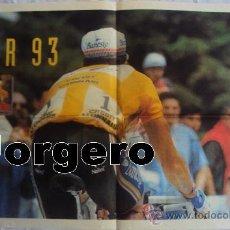 Coleccionismo deportivo: MIGUEL INDURAIN TOUR 93. PÓSTER. Lote 25148307
