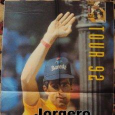 Coleccionismo deportivo: MIGUEL INDURAIN TOUR 92. PÓSTER. Lote 25184096