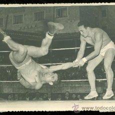 Coleccionismo deportivo: FOTOGRAFIA DE LUCHA LIBRE. FOTOGRAFO ESTADIOS MADRID. PALENCIA.. Lote 25593170