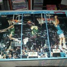 Coleccionismo deportivo: POSTER GIGANTES DEL BASKET - NBA ALL STAR WEEKEND CHARLOTTE 1991 - MICHAEL JORDAN - MAGIC ETC. Lote 26750646