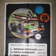 Coleccionismo deportivo: CARTEL AMERICAN GRAND PRIX, WATKIN'S GLEN, 4 DE OCTUBRE DE 1971-72 - EMERSON FITTIPALDI. Lote 75477394