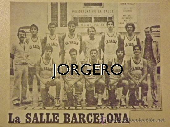 LA SALLE BARCELONA BALONCESTO 1979-1980. RECORTE (Coleccionismo Deportivo - Carteles otros Deportes)