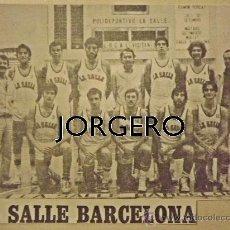 Coleccionismo deportivo: LA SALLE BARCELONA BALONCESTO 1979-1980. RECORTE. Lote 28332256