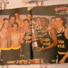 Coleccionismo deportivo: POSTER ESTUDIANTES CAMPEON COPA REY 1992 COMO NUEVO NUNCA PEGADO NI COLGADO. Lote 29020074