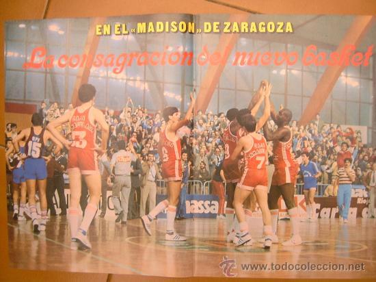 POSTER CAI ZARAGOZA CAMPEON COPA REY 1984 (Coleccionismo Deportivo - Carteles otros Deportes)