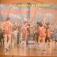 Coleccionismo deportivo: POSTER CAI ZARAGOZA CAMPEON COPA REY 1984 . Lote 29042638