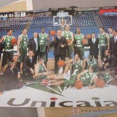 Coleccionismo deportivo: POSTER BALONCESTO PLANTILLA UNICAJA 01-02 . Lote 29067721
