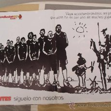 Coleccionismo deportivo: POSTER BALONCESTO SELECCION ESPAÑOLA BALONCESTO EUROBASKET 07. Lote 29068989