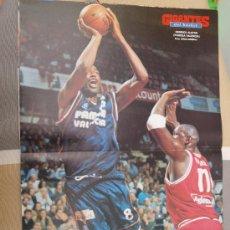 Coleccionismo deportivo: POSTER BALONCESTO DERRICK ALSTON PAMESA VALENCIA. Lote 29069494