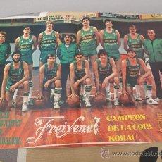 Coleccionismo deportivo: POSTER BALONCESTO JOVENTUT BADALONA FREIXENET CAMPEON COPA KORAC 1980-81. Lote 31527951
