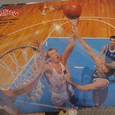 Coleccionismo deportivo: POSTER BALONCESTO DRAZEN PETROVIC BELOSTENY CAMPEONATO MUNDO ARGENTINA 1990. Lote 29264294