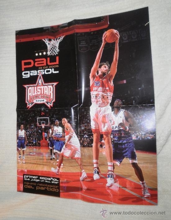 PÓSTER PAU GASOL, NBA ALL STAR HOUSTON 2006 (Coleccionismo Deportivo - Carteles otros Deportes)