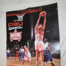 Coleccionismo deportivo: PÓSTER PAU GASOL, NBA ALL STAR HOUSTON 2006. Lote 30252350