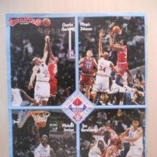 Coleccionismo deportivo: SUPER POSTER NBA ALL STAR 90/91 DE LA REVISTA GIGANTES DEL BASKET.. Lote 30332927