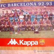 Coleccionismo deportivo: POSTER DEL F.C.BARCELONA DE LA TEMPORADA 92-93 NUEVO. Lote 56446336