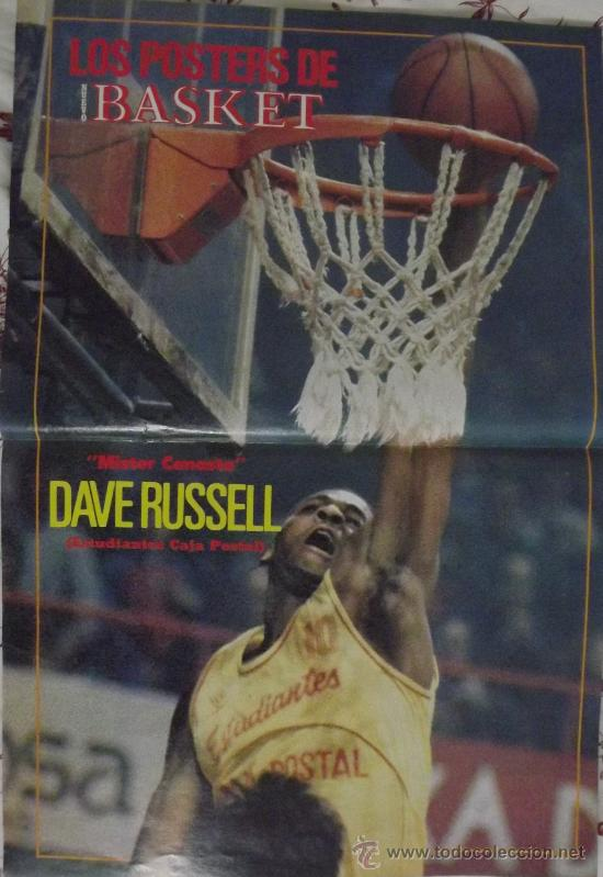 DAVE RUSSELL. ESTUDIANTES CAJA POSTAL. MATE. PÓSTER (Coleccionismo Deportivo - Carteles otros Deportes)