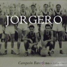 Coleccionismo deportivo: F.C. BARCELONA BALONCESTO 1944-1945. CAMPEÓN DE COPA. RECORTE. Lote 31151564