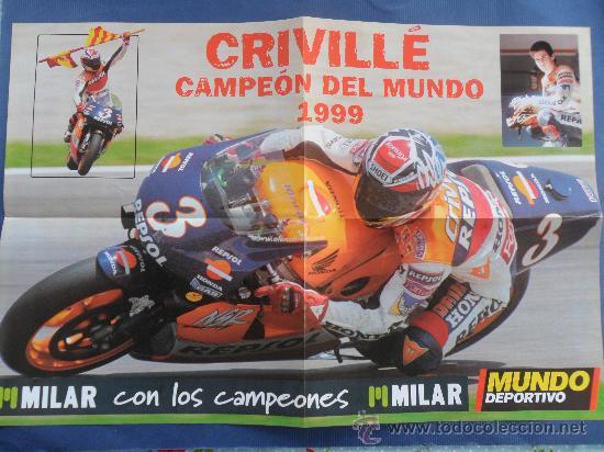 POSTER ALEX CRIVILLE CAMPEON DEL MUNDO 1999 MUNDO DEPORTIVO NUEVO MEDIDAS 60 X 40 CENT (Coleccionismo Deportivo - Carteles otros Deportes)