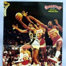 Coleccionismo deportivo: PÓSTER BALONCESTO GIGANTES DEL BASKET PAUL PRESSEY MILWAUKEE BUCKS 42 CM X 28,5 CM. Lote 31236908