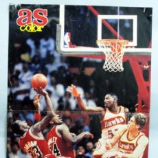 Coleccionismo deportivo: PÓSTER BALONCESTO AS COLOR MICHAEL JORDAN 1984 42 CM X 28,5 CM. Lote 31236947