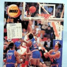 Coleccionismo deportivo: PÓSTER BALONCESTO HOUSTON ROCKETS LA ÚLTIMA PLANTILLA NBA 42 CM X 28,5 CM. Lote 31237153