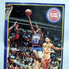 Coleccionismo deportivo: PÓSTER BALONCESTO AS DETROIT PISTONS NBA 42 CM X 28,5 CM. Lote 31237195