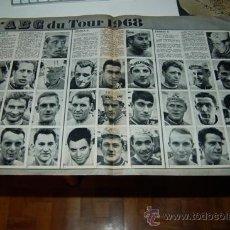 Coleccionismo deportivo: CICLISMO: IMÁGENES DE LOS 3 EQUIPOS FRANCESES DEL TOUR DE 1968. Lote 32010144