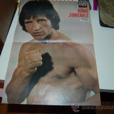 Coleccionismo deportivo: BOXEO: PÓSTER DEL PÚGIL NINO JIMÉNEZ. 1976. Lote 32184362