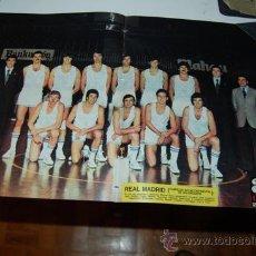 Coleccionismo deportivo: BALONCESTO ( BASKET ): POSTER DEL REAL MADRID, TEMPORADA 76-77. Lote 32199982