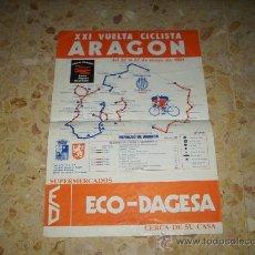 Coleccionismo deportivo: CARTEL XXI VUELTA CICLISTA ARAGON 1984 - DEL 22 AL 27 MAYO .. Lote 32218010