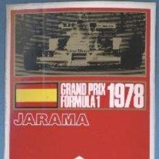 Coleccionismo deportivo: PEGATINA - GRAND PRIX FORMULA 1 1978 - JARAMA - MARLBORO. Lote 32577259