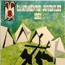 Coleccionismo deportivo: CARTEL MONTAÑISMO. LEÓN, CAMPAMENTOS JUVENILES 1961. MARTÍN SANTOS. 40X64. OFFSET . B+ . Lote 36447367