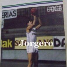 Coleccionismo deportivo: DRAZEN PETROVIC. REAL MADRID BALONCESTO. LANZAMIENTO A CANASTA. RECORTE. Lote 33295722