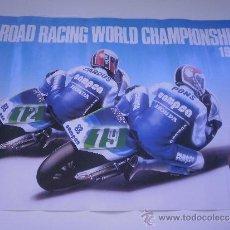 Coleccionismo deportivo: POSTER CAMPEONATO DEL MUNDO DE MOTOCICLISMO 1986 - CARLOS CARDUS Y SITO PONS - EQUIPO CAMPSA HONDA. Lote 33403960