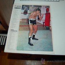 Coleccionismo deportivo: BOXEO: PÓSTER Y FICHA DE PEDRO CARRASCO. 1972. Lote 34277809