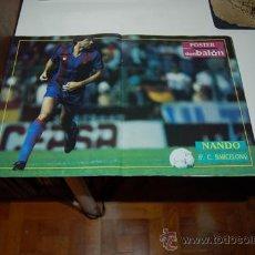 Coleccionismo deportivo: BARÇA: POSTER DE NANDO. 1991. Lote 34576418