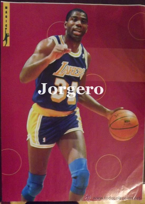 MAGIC JOHNSON. DIRECCIÓN DE JUEGO. MINI-PÓSTER (Coleccionismo Deportivo - Carteles otros Deportes)