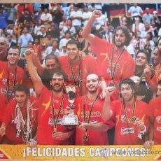 Coleccionismo deportivo: POSTER GRANDE MARCA SELECCION ESPAÑOLA CAMPEONA MUNDIAL BALONCESTO 2006 JAPON - BASKET ESPAÑA - . Lote 35513872