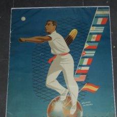 Coleccionismo deportivo: (M) CARTEL SAN SEBASTIAN - 1ER CAMPEONATO MUNDIAL DE PELOTA VASCA 1952, ILUSTRADO POR ARJONA ALFREDO. Lote 36275497