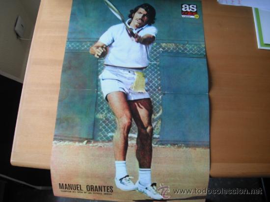 POSTER AS COLOR Nº 221 MANUEL ORANTES (CAMPEON OPEN USA). 1975 (Coleccionismo Deportivo - Carteles otros Deportes)