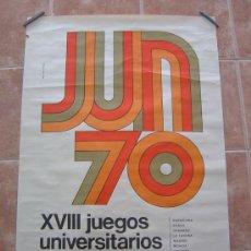 Coleccionismo deportivo: XXVII JUEGOS UNIVERSITARIOS NACIONALES 1970 70. Lote 36777148