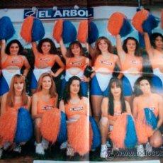 Coleccionismo deportivo: CHEERLEADERS - CARTEL POSTER SUPERMERCADOS EL ARBOL - 50X35 CM - BALONCESTO LEON PRIMEROS AÑOS 90. Lote 37345821