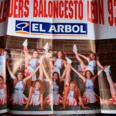 Coleccionismo deportivo: CHEERLEADERS - BALONCESTO LEON 93-94 - EL ARBOL - CARTEL POSTER. Lote 37345892