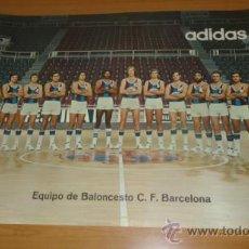 Coleccionismo deportivo: CARTEL POSTER EQUIPO BALONCESTO FC BARCELONA AÑOS 70 BASKET. Lote 37595224