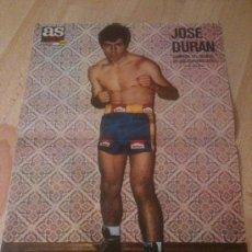 Coleccionismo deportivo: POSTER BOXEADOR JOSE DURAN - BOXEO - CAMPEON DEL MUNDO DE LOS SUPERWELTERS - AS COLOR. Lote 37664544