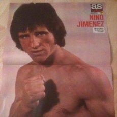 Coleccionismo deportivo: POSTER BOXEADOR NINO JIMENEZ - BOXEO - CAMPEON EUROPEO DEL PESO PLUMA - AS COLOR. Lote 37664631
