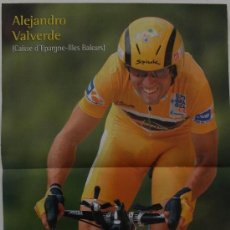 Coleccionismo deportivo: ALEJANDRO VALVERDE. MAILLOT ORO EN LA VUELTA. PÓSTER. Lote 38220229