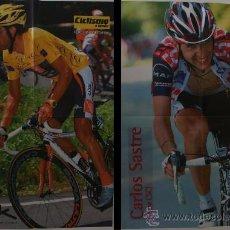 Coleccionismo deportivo: ÓSCAR PEREIRO-CARLOS SASTRE. CICLISMO. PÓSTER DOBLE. Lote 38220395